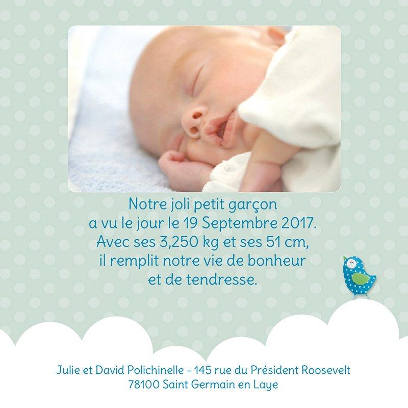 Faire-part de Naissance Fil d'Amour gratuit