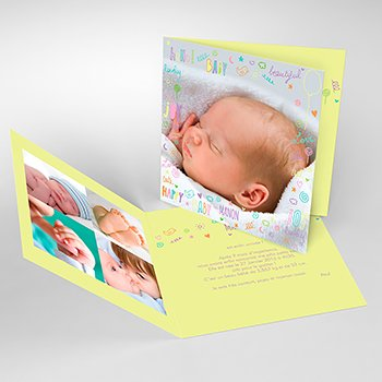 Faire-part de Naissance Pastel Party