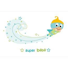 Faire-part de Naissance Super Bébé gratuit