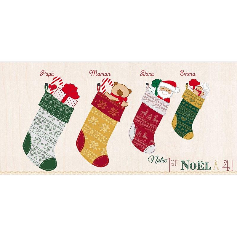 Faire-part de Naissance Chaussette de Noël pas cher