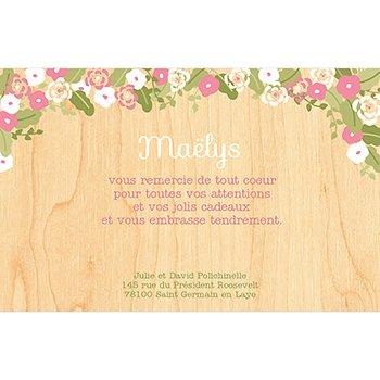Carte de Remerciement Naissance Fleurs des Champs pas cher