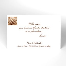 Carte de Remerciement Naissance Newbaby