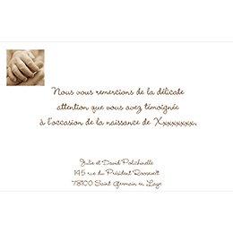 Carte de Remerciement Naissance Newbaby pas cher