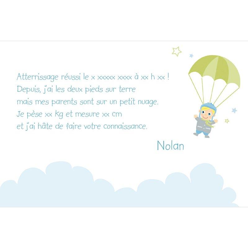Faire-part de Naissance Petit Avion