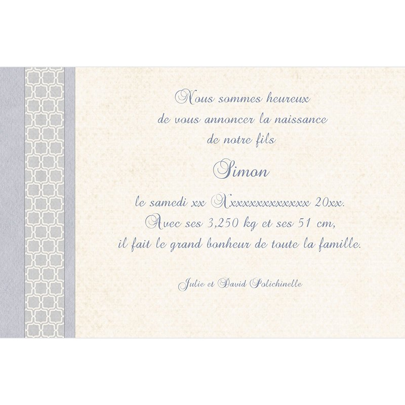 Faire-part de Naissance Macaron bleu gratuit