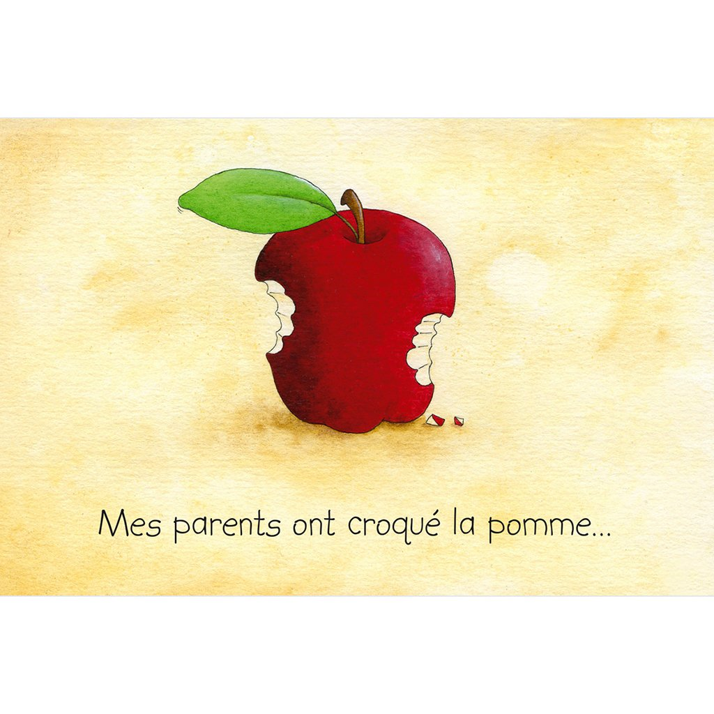 Faire-part de Naissance La Pomme sans photo pas cher