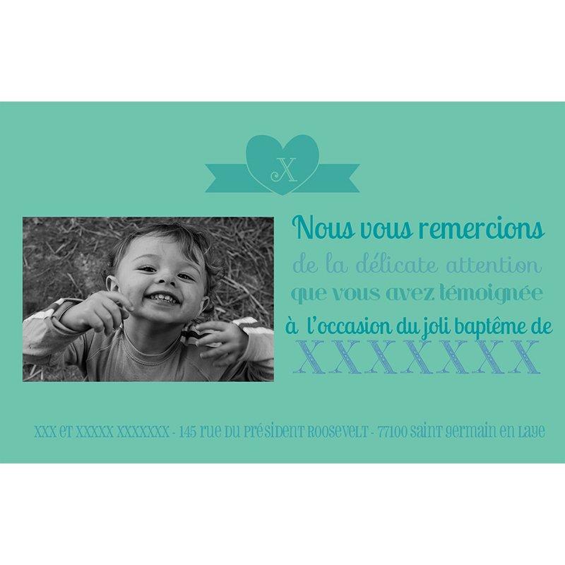 Carte de Remerciement Baptême Mots doux Baptême Garçon pas cher