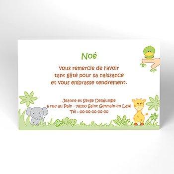 Carte de Remerciement Naissance La Savane original