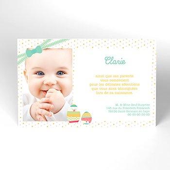 Carte de Remerciement Naissance Jolie Petite Surprise original