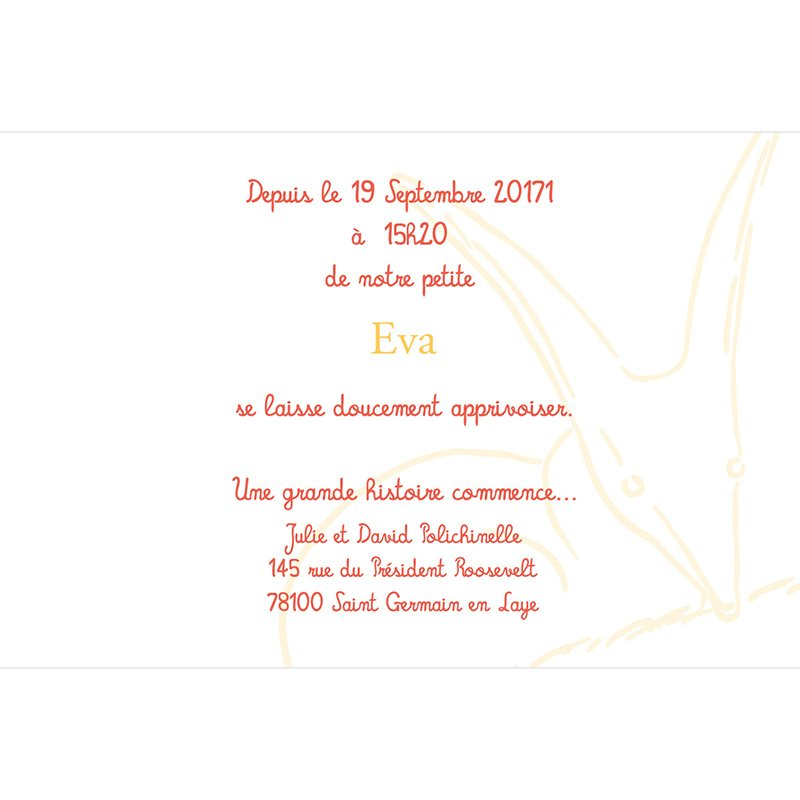 Faire-part de Naissance Le Petit Prince 4