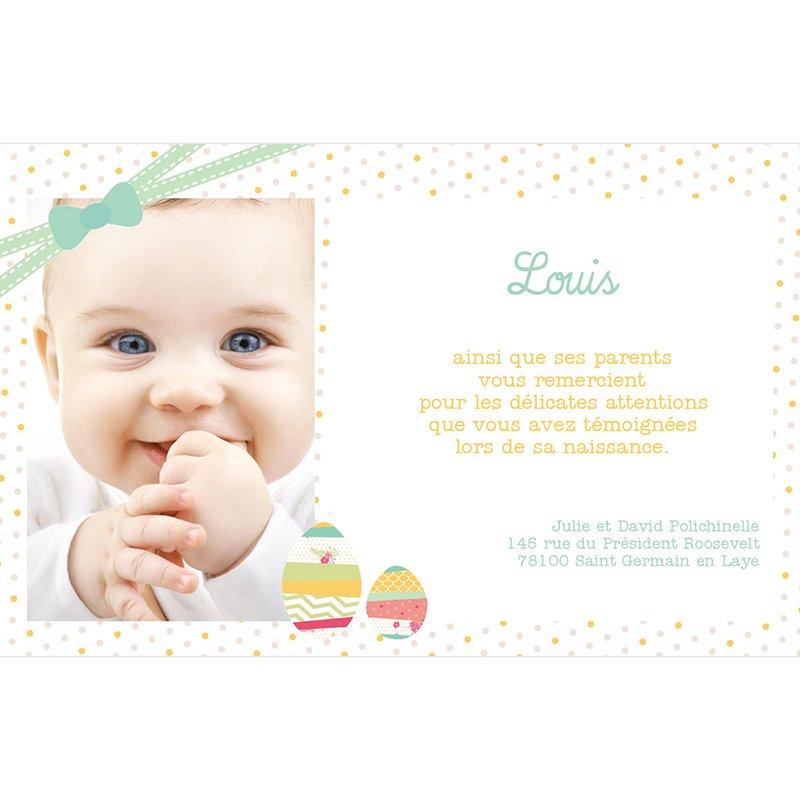 Carte de Remerciement Naissance Jolie Petite Surprise pas cher