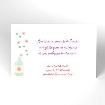 Carte de Remerciement Naissance Recette Magique original