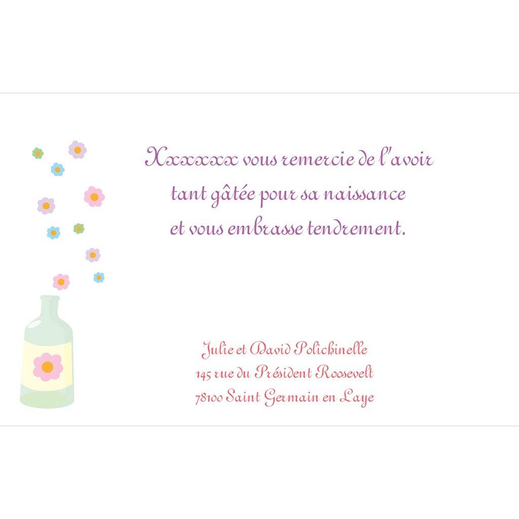 Carte de Remerciement Naissance Recette Magique pas cher