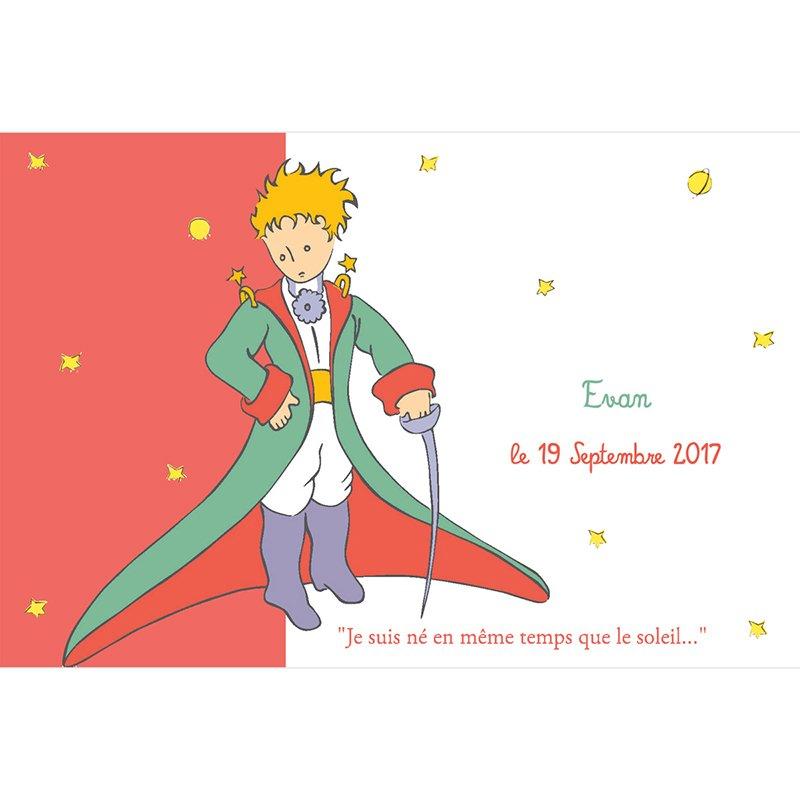 Faire-part de Naissance Le Petit Prince 5 pas cher