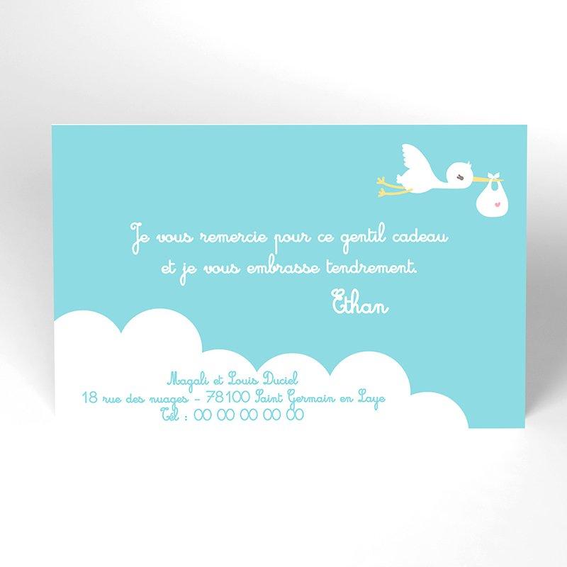 Carte de Remerciement Naissance Billet Doux