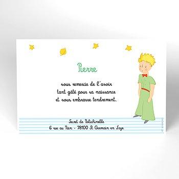 Carte de Remerciement Baptême Le Petit Prince 6 baptême