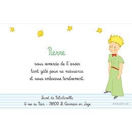 Carte de Remerciement Baptême Le Petit Prince 6 baptême pas cher