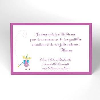Carte de Remerciement Naissance Les 3 Fées personnalisé