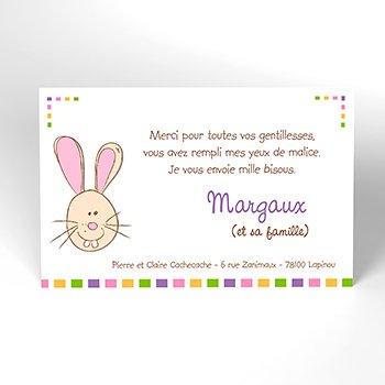 Carte de Remerciement Naissance Cache-Cache personnalisé