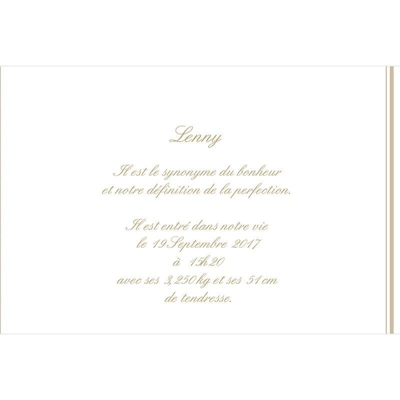 Faire-part de Naissance Petit Versailles beige gratuit