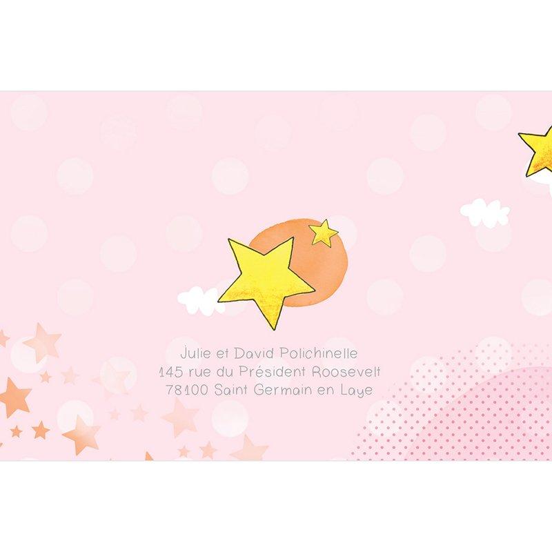 Faire-part de Naissance Petite Etoile rose gratuit