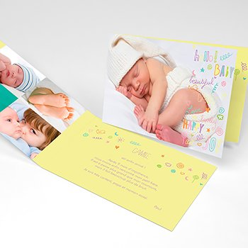 Faire-part de Naissance Pastel Party original