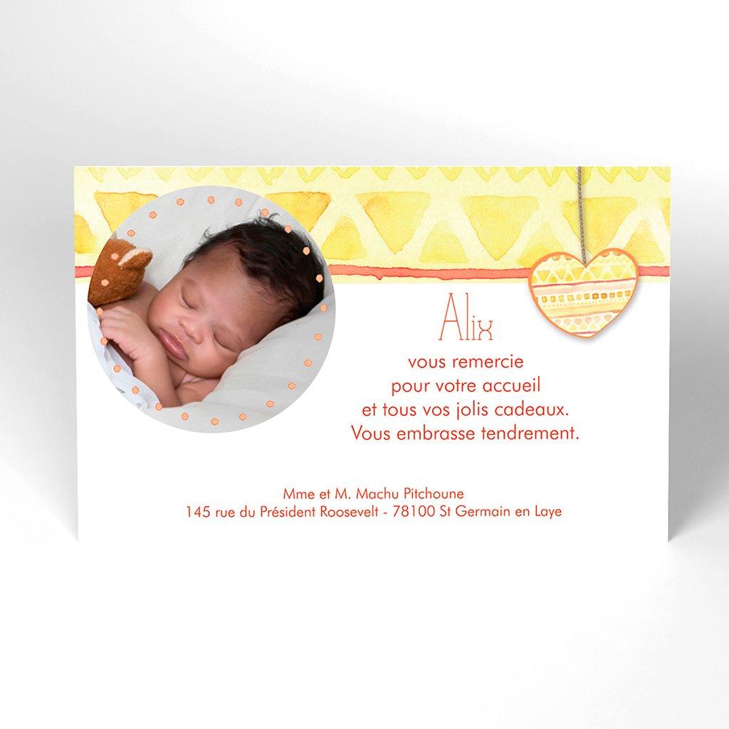 Carte de Remerciement Naissance Machu Pitchoune