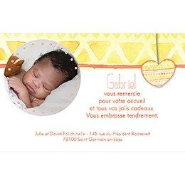 Carte de Remerciement Naissance Machu Pitchoune pas cher