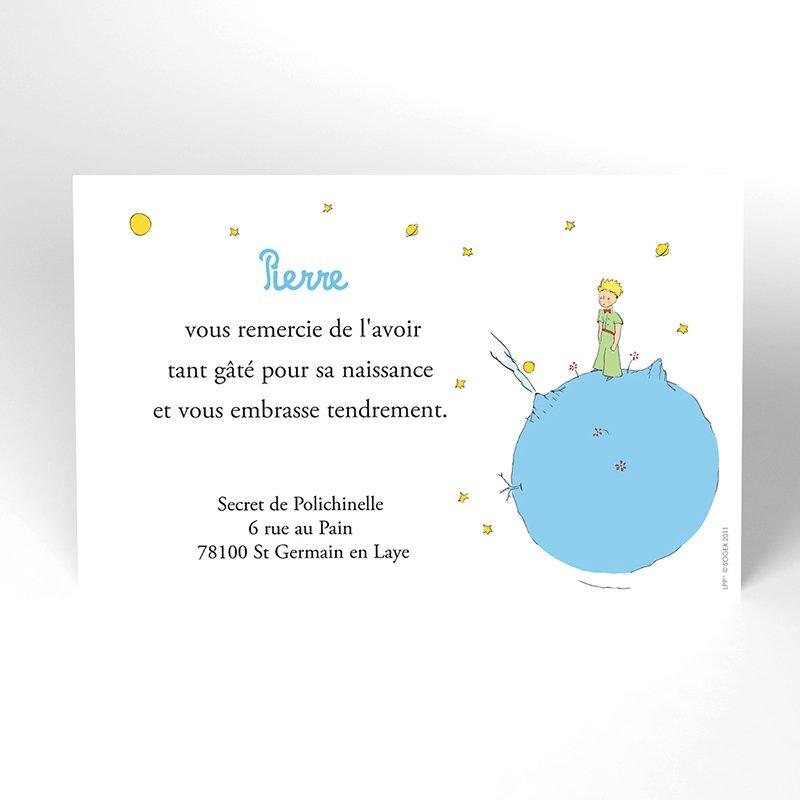 Carte de Remerciement Baptême Le Petit Prince 1 baptême