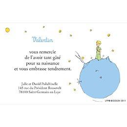 Carte de Remerciement Baptême Le Petit Prince 1 baptême pas cher