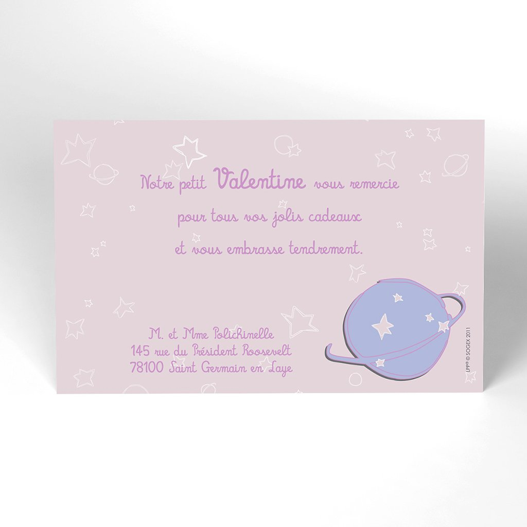 Carte de Remerciement Naissance Le Petit Prince 10