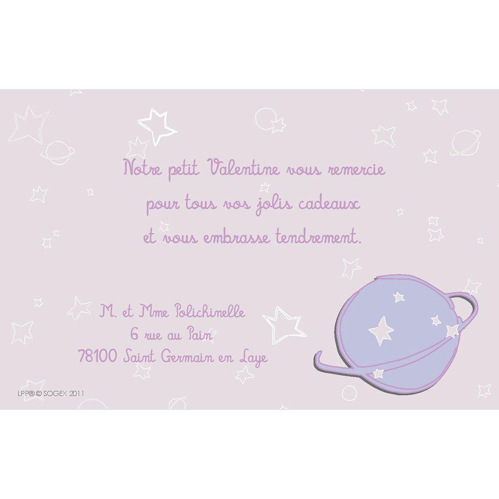 Carte de Remerciement Naissance Le Petit Prince 10 pas cher