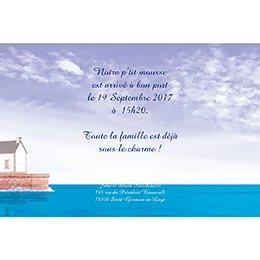 Faire-part de Naissance P'tit Marin sans photo gratuit
