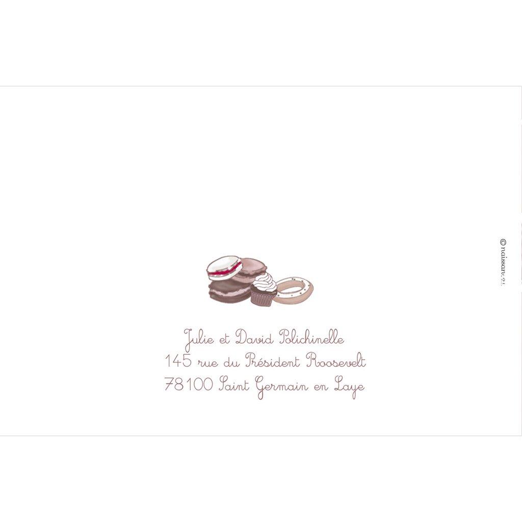 Faire-part de Naissance Cupcakes