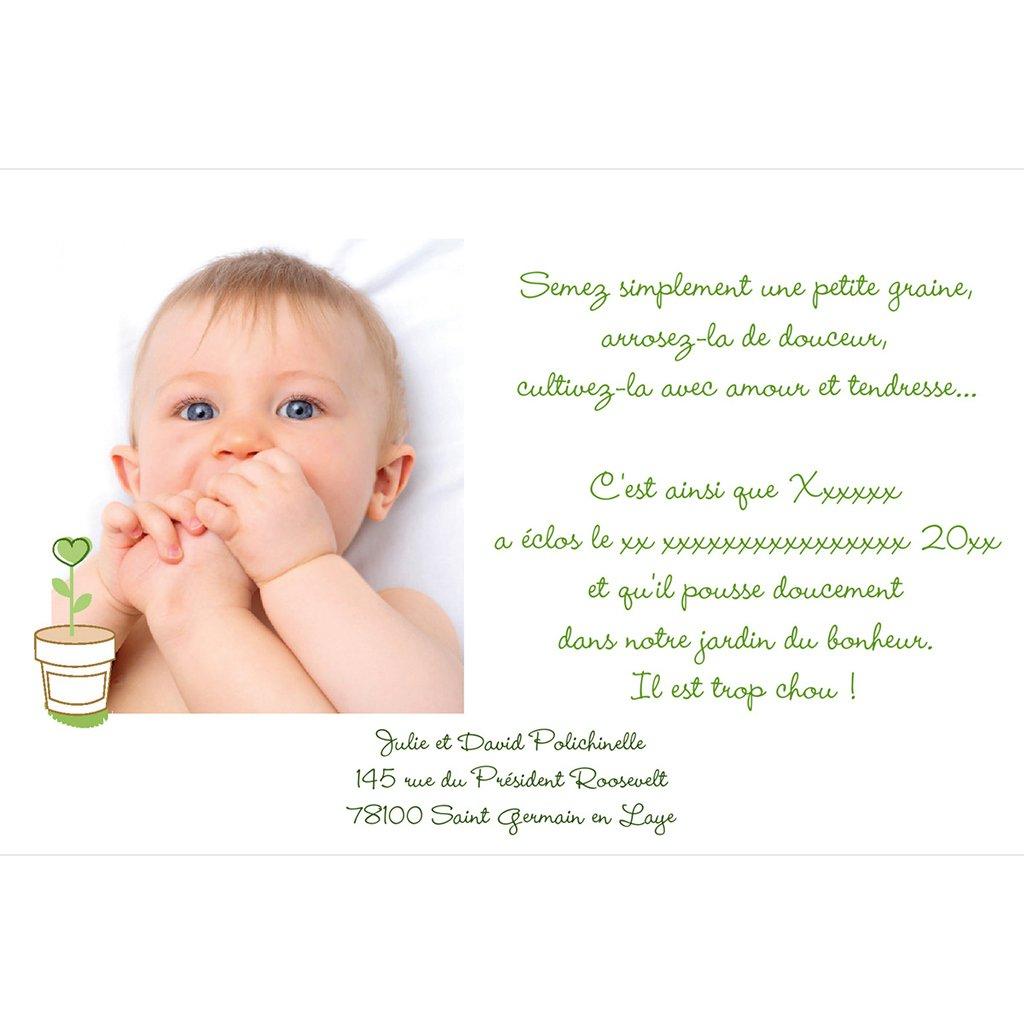 Faire-part de Naissance Chou-Fleur gratuit