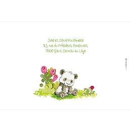 Faire-part de Naissance Famille Panda fille