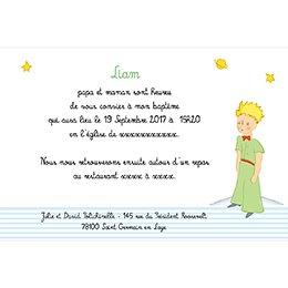 Faire-part de Baptême Le Petit Prince 6 baptême