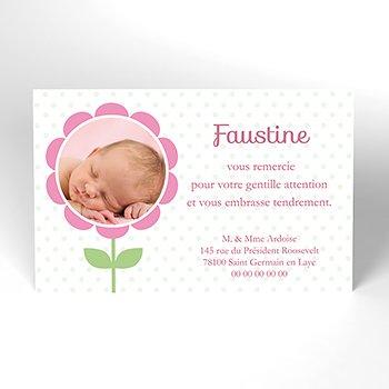 Carte de Remerciement Naissance Libellule fille original