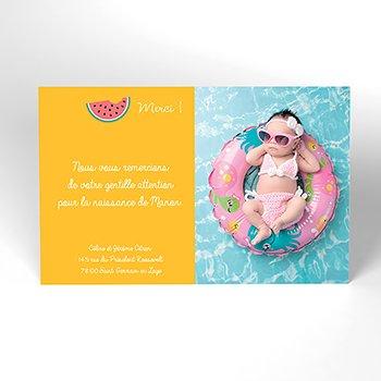 Carte de Remerciement Naissance Tutti Fruitti original