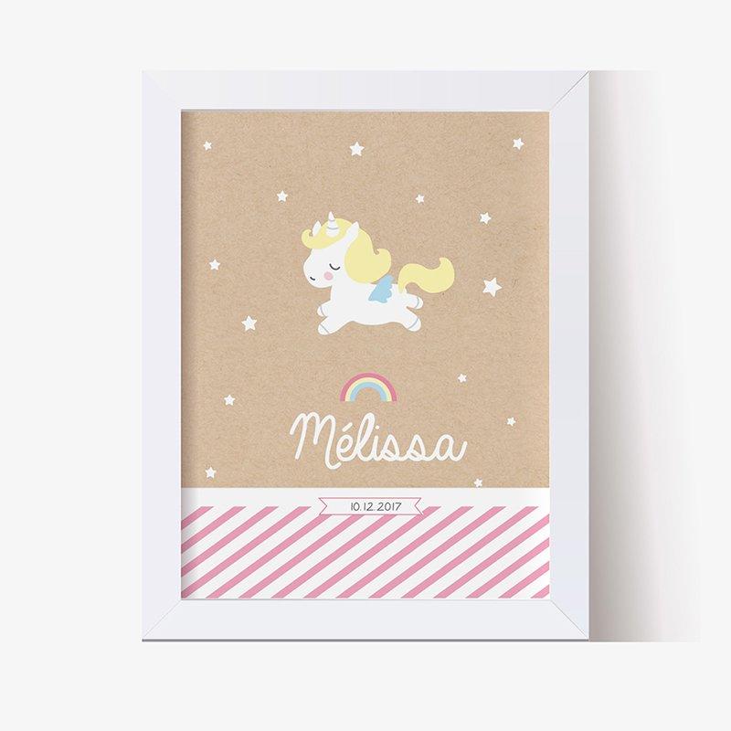 Affiche Déco Bébé Petite Licorne