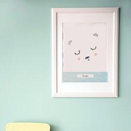 Affiche Déco Bébé Nounours pas cher