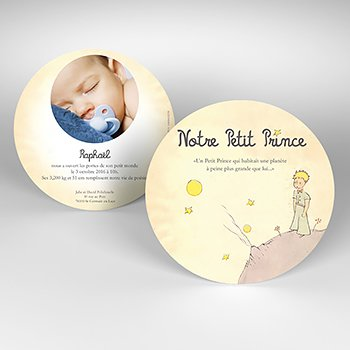 Faire-part de Naissance Le Petit Prince 12 pas cher