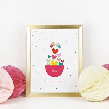 Affiche Déco Bébé Dose d'amour pas cher