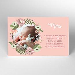 Carte de Remerciement Naissance Bohème Fille