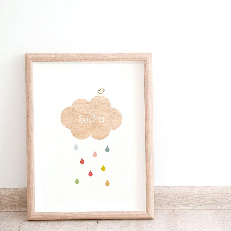 Affiche Déco Bébé Nuage pas cher
