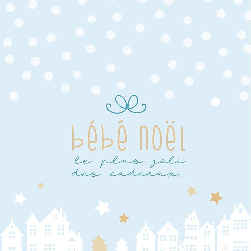 Faire-part de Naissance Village de Noël pas cher