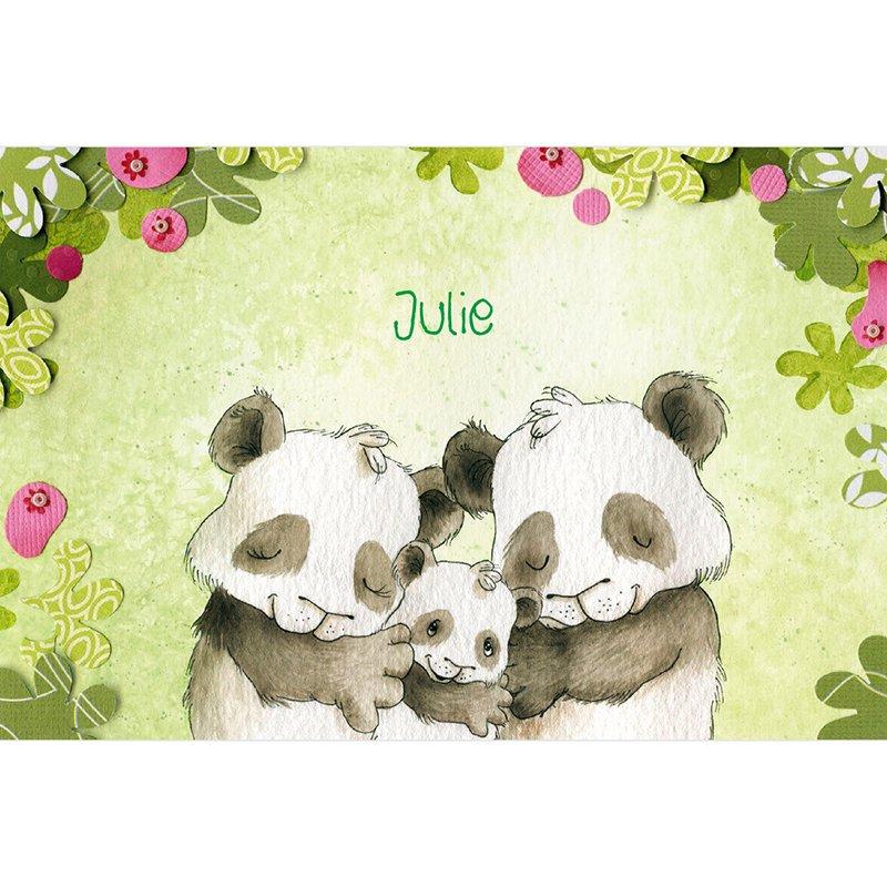 Faire-part de Naissance Famille Panda garçon pas cher