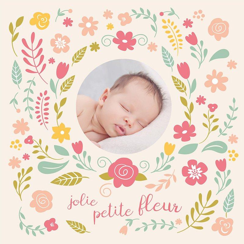 Faire-part de Naissance Petite fleur pas cher