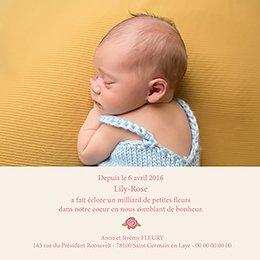Faire-part de Naissance Petite fleur gratuit