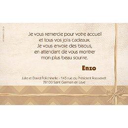Carte de Remerciement Naissance Kirikou 3 pas cher